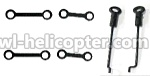 FX059-helicopter-parts-06 Long Connect buckle(2pcs) & Short connect buckle(2pcs) & Steering gear lever(2pcs)