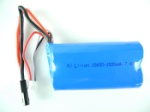 802-helicopter-27 705 battery with Black plug-7.4v 1500mah