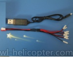 SYMA X7 UFO Ersatzteile-20 USB & 1-to-5 Cable ((Not include the 5 battery))
