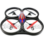 Wltoys V262 Ersatzteile-24 V262 Quadcopter BNF(Only Quadcopter Body ,No battery ,No transmitter,No charger)-Red&Blue
