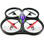 Wltoys V262 Ersatzteile-25 V262 Quadcopter BNF(Only Quadcopter Body ,No battery ,No transmitter,No charger)-Green&Purple