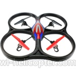 Wltoys V333 Ersatzteile-24 V262 Quadcopter BNF(Only Quadcopter Body ,No battery ,No transmitter,No charger)-Red&Blue