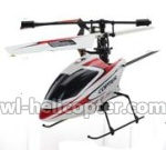 WL V911-54 Single helicopter(No battery,No remote control)-Red